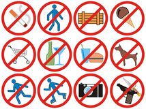 Prohibiting Signs (Vector) Stock Photo
