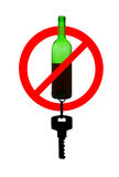 Prohibiting symbol of drunk driving Royalty Free Stock Images