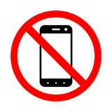 Prohibiting the use of a mobile phone. Stock Photos