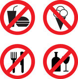 Prohibiting vector icons Royalty Free Stock Photography