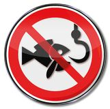 Prohibition ban for fishing. And safe the fish Stock Images