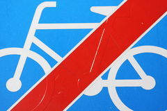 Prohibition for bicycles Royalty Free Stock Images