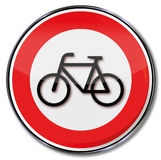 Prohibition for bikes Stock Photography