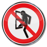 Prohibition for burglars. And criminal investigation vector illustration