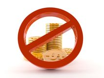 Prohibition of corruption concept. On white background Royalty Free Stock Images