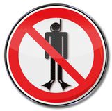 Prohibition and diving ban Royalty Free Stock Image