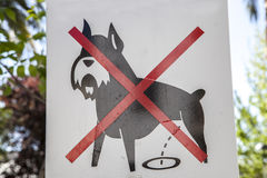 Prohibition dog sign outdoors Royalty Free Stock Photo