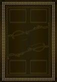 Prohibition Era Background and Frame Design Royalty Free Stock Image