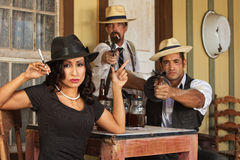Prohibition Era Gangsters Royalty Free Stock Photography