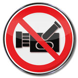 Prohibition for filming. And cameras vector illustration