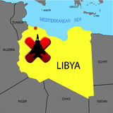 Prohibition of flights over Libya Royalty Free Stock Images
