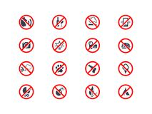 Prohibition icons Royalty Free Stock Photography