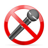 Prohibition microphone Stock Image