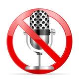 Prohibition microphone Stock Photos