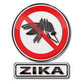 Prohibition for mosquitos to the zika virus Royalty Free Stock Photography