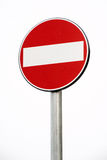 Prohibition or No Entry sign Royalty Free Stock Image