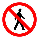 Prohibition No Pedestrain Sign Vector Stock Photography