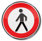Prohibition for pedestrians. It is too dangerous Stock Photos