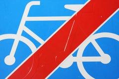 Prohibition pour des bicyclettes Images libres de droits