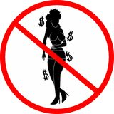 Prohibition prostitution Stock Images