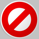 Prohibition, restriction. Red strike-through road signs. Red do Royalty Free Stock Images