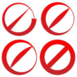 Prohibition, restriction sign. Red no entry, do not enter signs Royalty Free Stock Photo