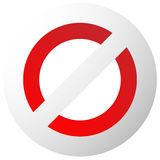 Prohibition, restriction sign. Red no entry, do not enter signs Stock Photo