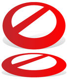 Prohibition, restriction sign. Red no entry, do not enter signs Royalty Free Stock Photography
