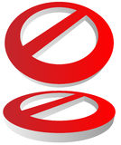 Prohibition, restriction sign. Red no entry, do not enter signs Stock Images