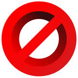 Prohibition, restriction sign. Red no entry, do not enter signs Royalty Free Stock Image