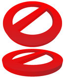 Prohibition, restriction sign. Red no entry, do not enter signs Royalty Free Stock Images