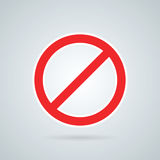 Prohibition road sign vector illustration. Stop icon. Stock Images