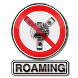 Prohibition for roaming and roaming costs Stock Photo