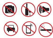 Prohibition set symbol, vector illustration Stock Image