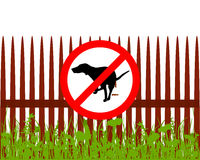 Prohibition sign dog crapping Stock Photography