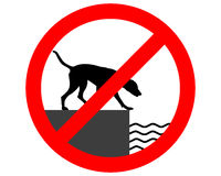 Prohibition sign for dogs Stock Photos