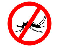 Free Prohibition Sign For Mosquitos Royalty Free Stock Images - 10165019