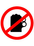 Prohibition sign icon. No drink beer. Royalty Free Stock Images