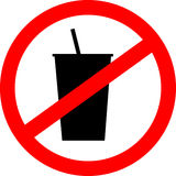 Prohibition sign icon. No drink. Royalty Free Stock Photos