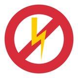 Prohibition sign industry production vector illustration warning danger symbol forbidden. Royalty Free Stock Photos