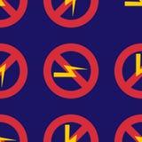 Prohibition sign industry production vector illustration warning danger symbol forbidden. Stock Photos