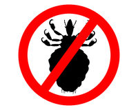 Prohibition sign for lice Stock Photos