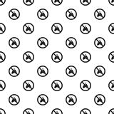 Prohibition sign moth pattern, simple style. Prohibition sign moth pattern. Simple illustration of prohibition sign moth vector pattern for web Stock Photography