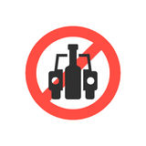 Prohibition sign no drink driving Stock Image