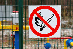 Prohibition sign no fire Royalty Free Stock Photos