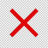 Prohibition Sign, No Symbol; Red Cross Royalty Free Stock Images