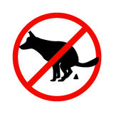 Prohibition sign paddock animals Royalty Free Stock Photos