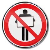 Prohibition sign for posters Royalty Free Stock Photos