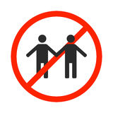 Prohibition sign for same-sex marriage, vector illustration. Royalty Free Stock Image