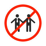 Prohibition sign for same-sex marriage, vector illustration. Stock Image